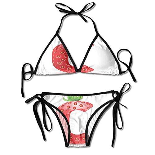 Women's Studded Floral Triangle Bikini Top Personality Swimwear Bikini Set