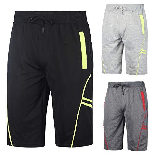 YOcheerful Mens Shorts, Sales! Men Fitness Bodybuilding Trunks Sportswear Shorts Pocket Short Pants Activewear Shorts
