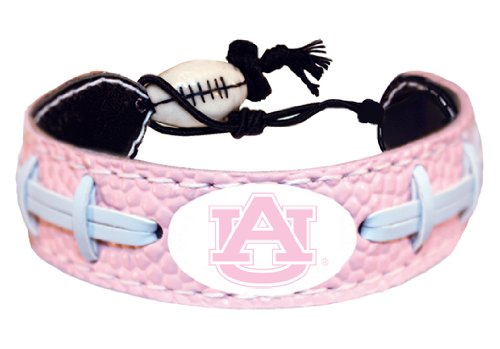NCAA Auburn Tigers Pink Football Bracelet