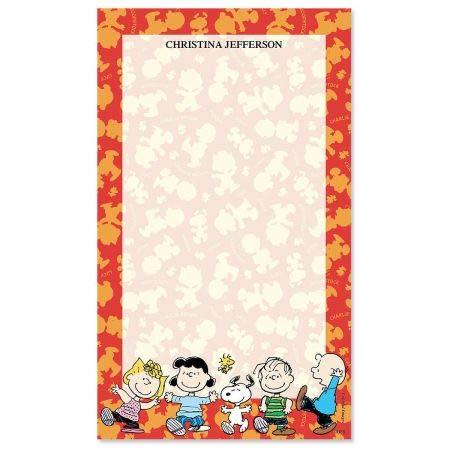 Peanuts Polka Custom Notepad- Single Custom 50 Sheet List Pad Custom 50 Sheet Notepads