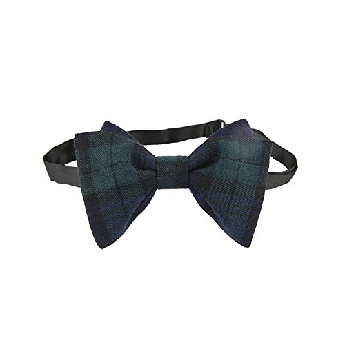 Amytong Double luxury handmade wedding groom business suits Green Plaid bow tie
