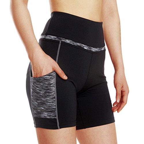 Entrenamiento Mujeres de f Pantalones cortos yoga Cintura activos alta wafpw0xq