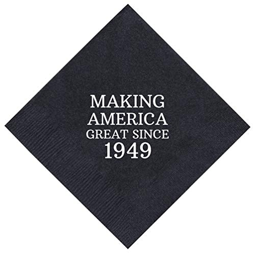 70th Birthday Gifts Making America Great Since 1949 70th Birthday Party Supplies 50 Pack 5x5