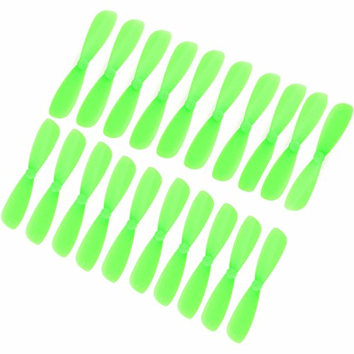 Genuine Gemfan 45mm (1.77-inch) Propellers by RAYCorp. 16 Pieces(8CW, 8CCW) Green Micro Quadcopters & Mutlirotors Props + RAYCorp Battery Strap