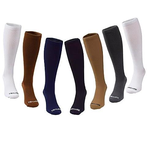 Foot Loose 15-20mmhg Knee High Compression Socks, 7-Pair