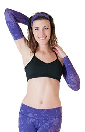 Skirt Sports Women's Arm Warmers, Purple Passion Print, Small/Medium