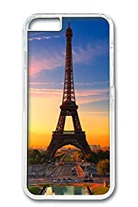 iPhone 6 Plus Case, Protective Slim Hard PC Clear Case Cover for Apple iPhone 6 Plus(5.5 inch)- Eiffel Tower05