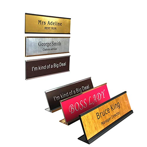 Personalized Name Plate with Wall or Desk Holder -2
