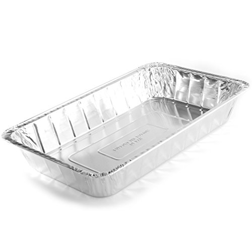 Simply Deliver Aluminum Steam Table Pan, Full-Size, Deep, 70 Gauge, 50-Count - Edge Steam Table Pan