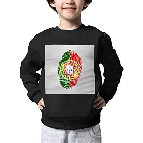 AW-KOCP Children's Portugal Flag Fingerprint Sweater Baby Boys Printed Sweater for $<!--$16.96-->