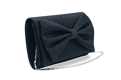Evening and Black Bag Women Bridal Clutch Purse Partying Wedding for Girl��s Handbag gU7wgq