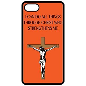 I Can Do All Things Through Christ Who Strengthens Me - Religious - Religion Black Iphone 4 - Iphone 4s Cell Phone Case - Cover 8