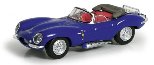 Ricko Automobile 38323 HO Jaguar Xkss with Top Down Model Car 1:87 Hobby Train Vehicles, Blue