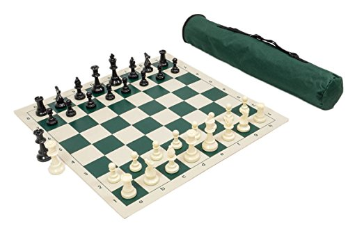 Wholesale Chess Archer Chess Set Combo - Forest Green - Chess Set Bag