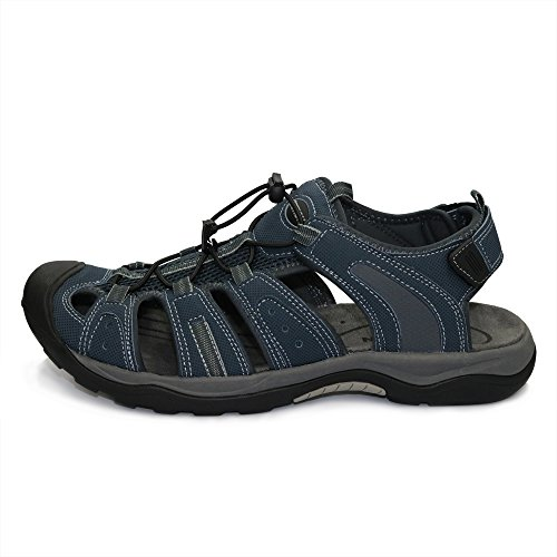 Image of GRITION Mens Athletic Hiking Sandals Closed Toe Fisherman Water Sandals Adjustable Protective Toecap …