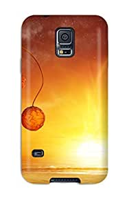 Annie T Crawford Case Cover For Galaxy S5 - Retailer Packaging Whimsical Orange Landscape Protective Case