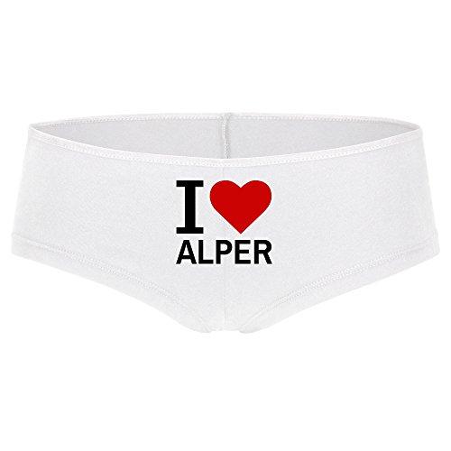 Panty Classic I Love Alper weiß Damen Gr. S bis XL