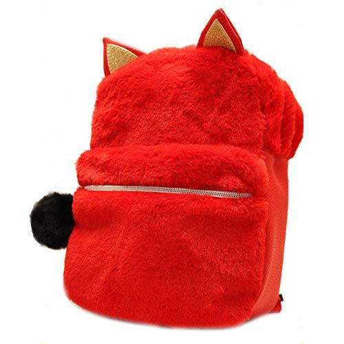 Daisy Fuentes Little Kids Backpack Kitten Design Faux Fur Material Shoulder Bag - -