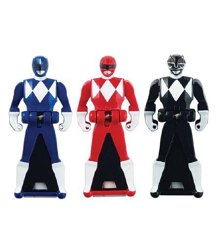 Power Rangers Super Megaforce - Mighty Morphin Legendary Ranger Key Pack A, Red/Blue/Black