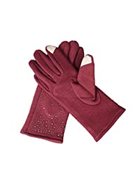 Ms Stars Gloves Touch Screen Cashmere Color Optional,2