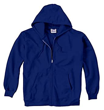 Hanes 9.7 oz. Ultimate Cotton� 90/10 Full-Zip Hood - DEEP ROYAL - XL