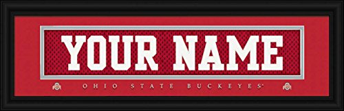 Ohio State Buckeyes - Personalized Jersey Nameplate - Framed Poster Print