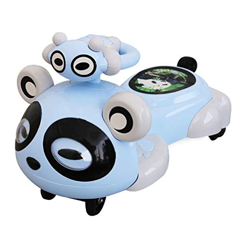 Reverse Gang (Pedal Cars Children's Twist Car 1-3-6 Years Old with Music Mute Wheel Baby Gliding Panda Yo-yo Swing Car Indoor and Outdoor Cycling to Reverse Children's Toys Baby Birthday Gift)