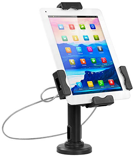 Mount-It! Secure Universal Tablet POS Kiosk with Wall Bracket Add-on   Locking Tablet Stand with Adjustable Clamp for iPad, iPad Mini, Samsung Galaxy Tab, Surface Go and 7.9″- 10.5″ Tablets – MI-3784