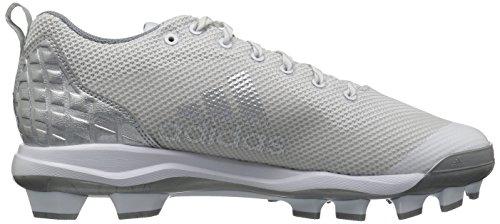 Adidas Originals Mænds Freak X Kulstof Midten Baseball Sko Ftwr Hvid, Sølv Mødte., Lysegrå