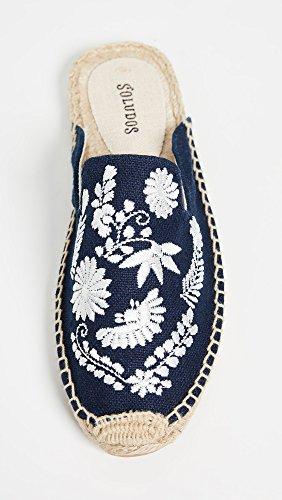 Ibiza Blue Midnight Women's Mule Slipper Soludos Embroidered Zwz8Rfxq