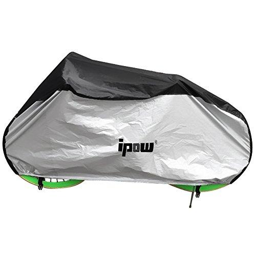 Ipow® Fahrradgarage Abdeckhaube Wasserdicht Fahrrad Schutzhülle mit Beutel, schwarz/silber