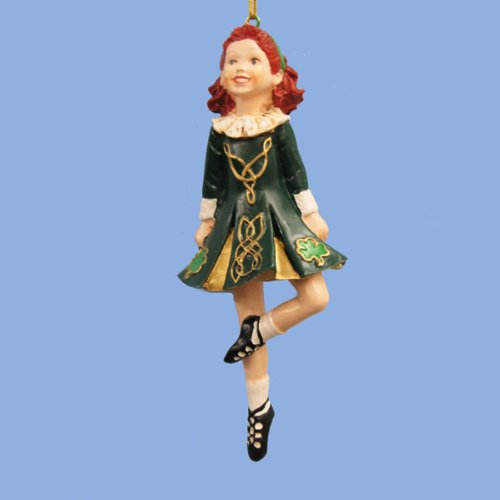 Kurt Adler 6-Inch Resin Irish Step Dancer Christmas Ornament ()