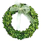 "Preserved Boxwood Round Wreath 8"""