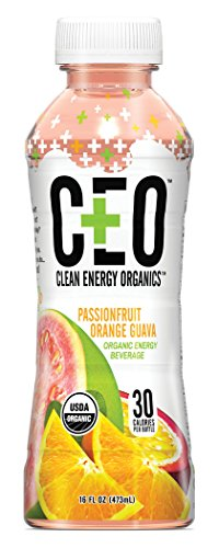 CEO Passionfruit Orange Guava (12 Pack) Organic Hydration Drinks Infused With Coconut Water and Natural Caffeine