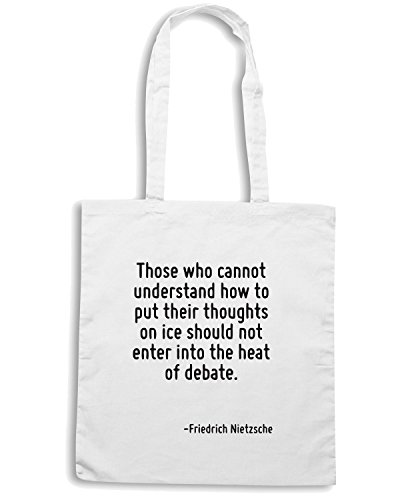 T-Shirtshock - Bolsa para la compra CIT0233 Those who cannot understand. Blanco