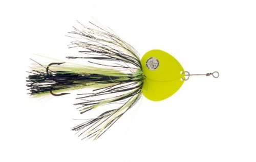 - Musky Double Showgirl Bait, 7 1/2-Inch, 1.6-Ounce, Black/Chartreuse