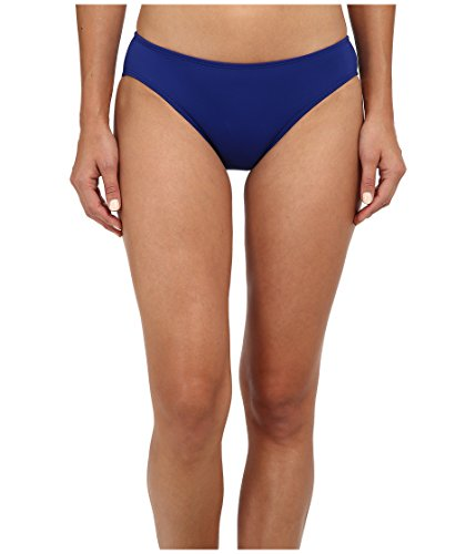 (LAUREN RALPH LAUREN Women's Laguna Solids Hipster w/Logo Plate Bottoms, Ocean, 8)