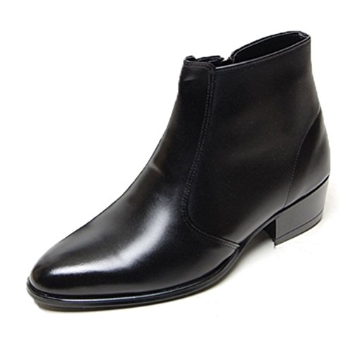 EpicStep Men's Black Genuine Cow Leather Dress Shoes Formal Casual Zipper Ankle Boots 9.5 M US by EpicStep (Image #6)