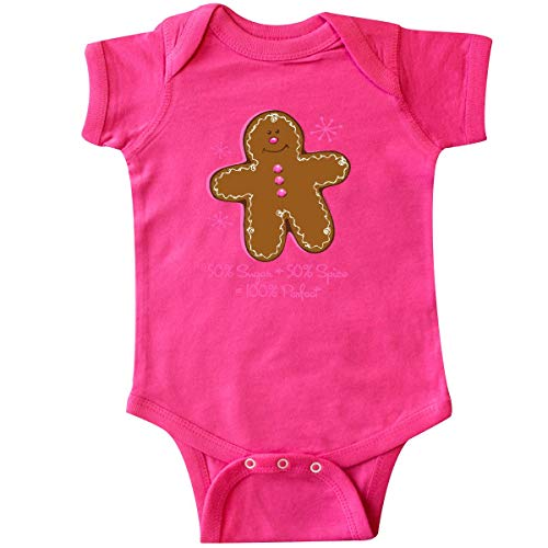 - inktastic - Sugar & Spice Gingerbread Infant Creeper 24 Months Hot Pink 4732