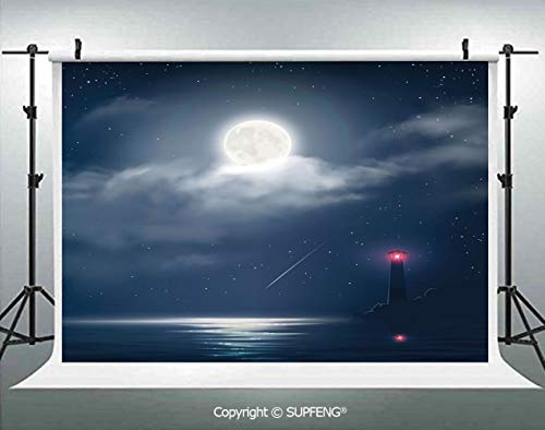 Photography Background Illustration of Nocturnal Clouds Stars Moon