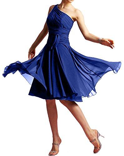 Chiffon Chiffon Navy Blau mia Jugendweihe La Kleider Abendkleider Braut Promkleider Blau Partykleider Knielang Royal qxRvIvTwC