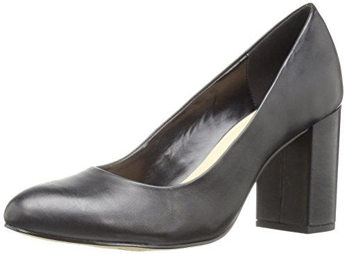 Bella Vita Women's Nara Dress Pump, Black Leather, 8 W US