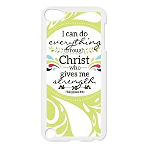 Custom Bible Verse Back Cover Case for ipod Touch 5 JNIPOD5-265