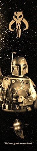 Boba Fett Star Wars Bookograph Metal Bookmark
