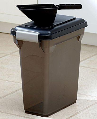 ( IRIS Premium Airtight Pet Food Storage Container, 12.5-Pounds,  Smoke)