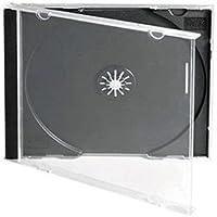 50 Single Standard 10mm CD Jewel Case With Black Tray