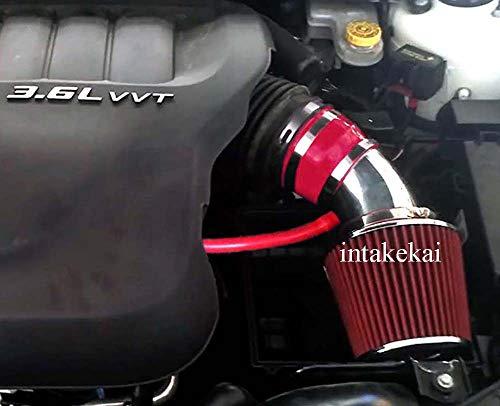 PERFORMANCE SHORT RAM AIR INTAKE KIT FOR 2011-2015 DODGE JOURNEY 3.6 & 2011-2014 DODGE AVENGER CHRYSLER 200 3.6L V6 ENGINE (RED)