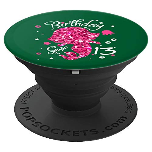 Birthday Girl 13 yr Art | Thirteen year old B-day art Gift - PopSockets Grip and Stand for Phones and Tablets