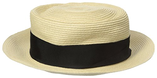 Gottex Women's Olivia Toyo Straw Sun Hat, Rated UPF 50+ for Max Sun Protection, Natural/Black, One Size