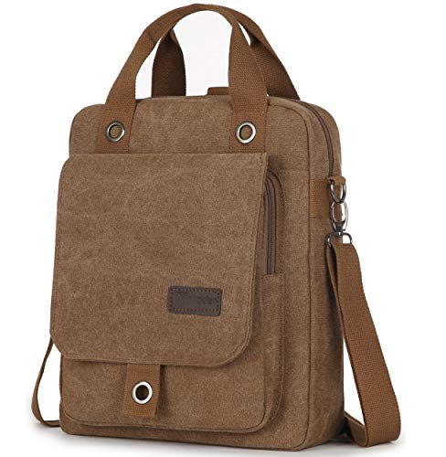 Scioltoo Laptop Computer Backpack For Women 13'' Canvas Messenger Bag Convertible Backpack